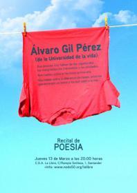 Álvaro Gil Perez poeta callealtero de la Universidad de la Vida