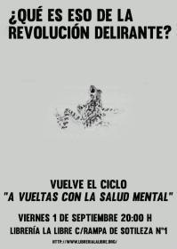 """Ciclo A vueltas con la salud mental: """"¿Qué es eso de la revolución delirante?"""". La Libre. Santander"""