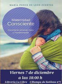 Charla/Presentación: Maternidad Consciente a cargo de Maria Ponce. La Libre. Santander