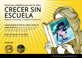 """Presentación del libro: """"Crecer sin escuela"""" a cargo de su coautora Isabel Gutierrez. La Libre. Santander"""