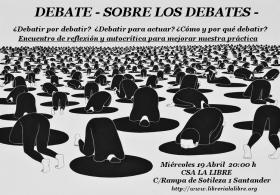 Debate sobre los debates. La Libre. Santander