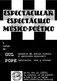 Espectáculo poético-musical desde el sur. La Libre. Santander