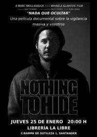 Nothing to hide (nada que ocultar), un documental sobre la vigilancia masiva y vosotros. La Libre. Santander