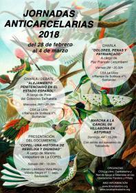 """Jornadas anticarcelarias 2018: Charla/debate; """"Alejamiento penitenciario en el estado español"""". A cargo de Pote del colectivo Salhaketa. La Libre. Santander"""