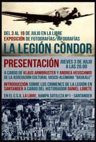 """Exposición: """"La destrucción de Gernika por la Legión Cóndor. Pasado y presente de un crimen nazi en la guerra del 36/37"""""""