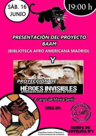 """Presentación de la Biblioteca Afroamericana de Madrid y de """"Héroes Invisibles: afroamericanos en la Guerra Civil española"""". La Libre. Santander"""