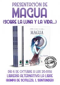 """Presentación del libro de poesía: """"Magua"""" con su autora Eva Ferreira. La Libre. Santander"""