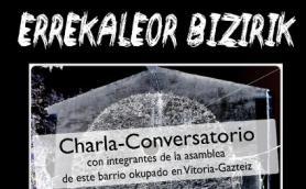 Charla conversatorio con vecinxs del barrio vitoriano de Errekaleor. La Libre. Santander