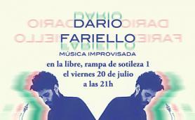 Concierto de música improvisada de Dario Fariello usando saxofón soprillo, saxofón sopranino y sintetizador modular. La Libre. Santander