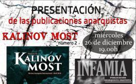 Presentación de las publicaciones anarquistas Kalinov Most nº2 e Infamia. La Libre. Santander