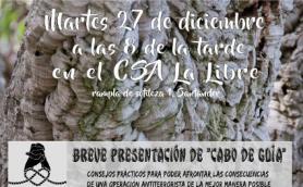 Charla sobre la actualidad de la represión al anarquismo y breve presentación de Cabo de Guía. La libre. Santander