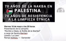 Presentación de la campaña Rumbo a Gaza. La Libre. Santander